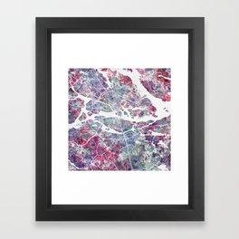 Stockholm map Framed Art Print