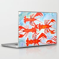 lobster Laptop & iPad Skins featuring Lobster by Julie Lehite