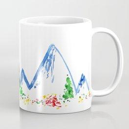 Mountains || watercolor Coffee Mug