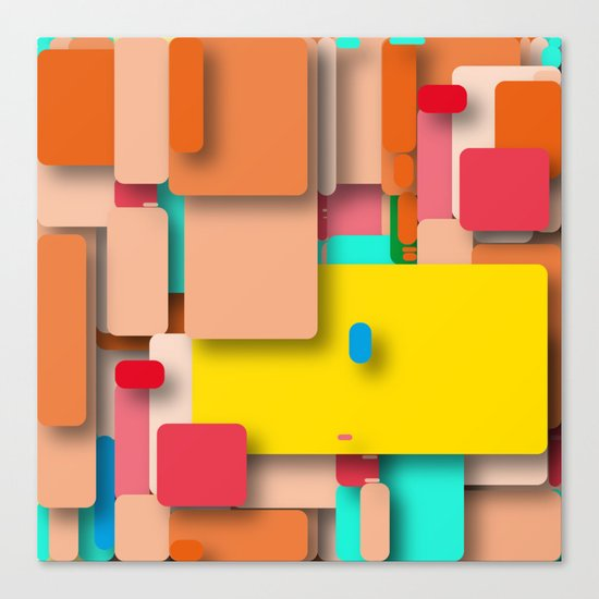 rounded rectangles Canvas Print