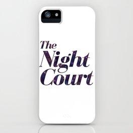 The Night Court Galaxy Design White iPhone Case