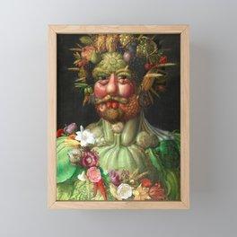 Rudolf II as Vertumnus by Giuseppe Arcimboldo, 1591 Framed Mini Art Print