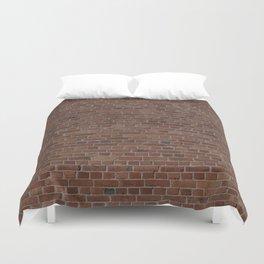 NYC Big Apple Manhattan City Brown Stone Brick Wall Duvet Cover