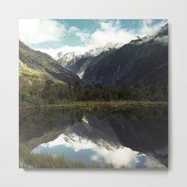 (Franz Josef Glacier) Where the snow melts Metal Print