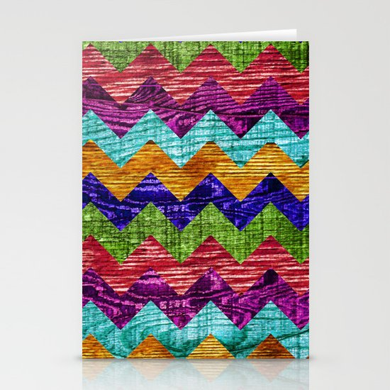 Natural Chevron Flow Stationery Cards
