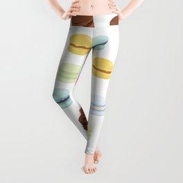 Sweet Macaroon Pattern Leggings