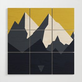Mountains Wood Wall Art