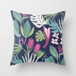 Night Rainforest Throw Pillow