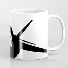 Fighter Jet Silhouette (Front-View) Coffee Mug