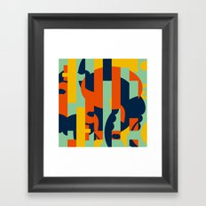 Bloodflower Pattern Framed Art Print