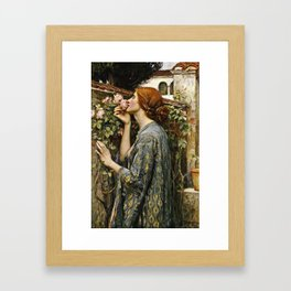 John William Waterhouse - The soul of the rose Framed Art Print
