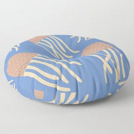 Jellyfish Illustration, Underwater Series Floor Pillow