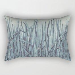 Green-Blue Grass Rectangular Pillow