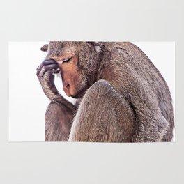 The Thinker Monkey Rug