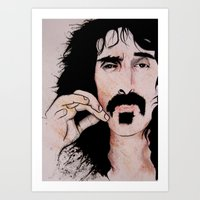 Frank Zappa (2011) - Orignal Sold  Art Print