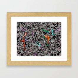 Kamasutra LOVE Doodle - Retro Colors 1 Framed Art Print