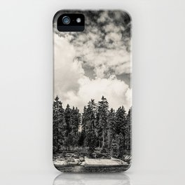 Far Away Clouds Passing By iPhone Case