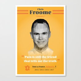 Heroes of The Tour de France - Chris Froome Canvas Print
