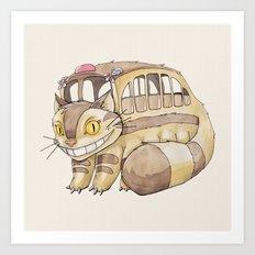 Magical Bus Ride Art Print