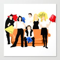 friends tv Canvas Prints featuring Friends  by Take Me To The Metro
