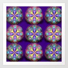 Fractal Buttons Art Print