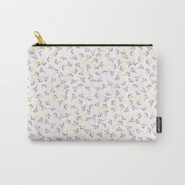 Lavender Ditsy Flower Pattern Carry-All Pouch