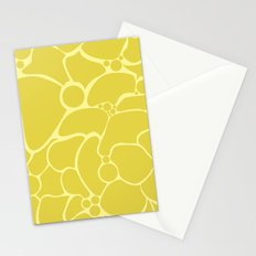 Yellow creative abstract pattern . Stationery Cards