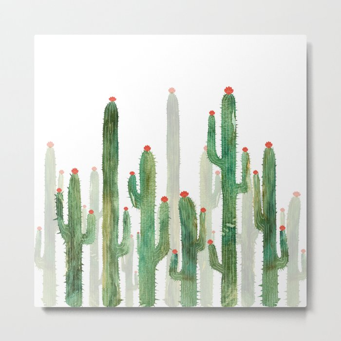 Cactus Four Metal Print