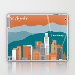 Los Angeles, California - Skyline Illustration by Loose Petals Laptop & iPad Skin