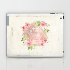Typography A Mothers Heart Laptop & iPad Skin