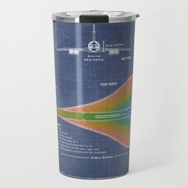 Concorde Supersonic Airliner Blueprint (dark blue) Travel Mug