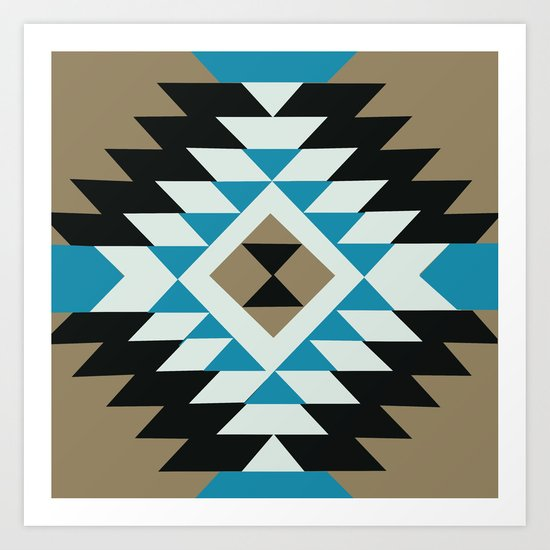 American Native Pattern No. 25 Art Print