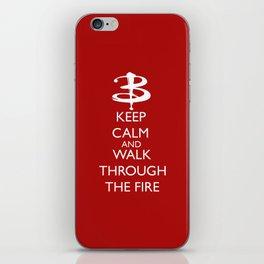 Walk through the fire iPhone Skin