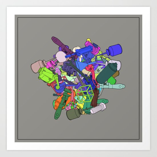 Synthetic Vision Art Print