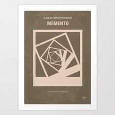 No243 My Memento minimal movie poster Art Print