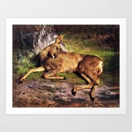 Rosa Bonheur - A Roe Deer In The Forest - Digital Remastered Edition Art Print