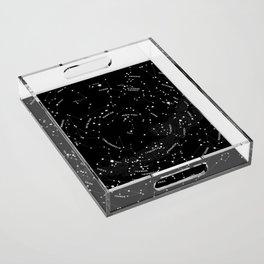 Constellation Map - Black Acrylic Tray