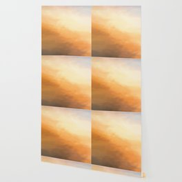Abstract Beige Tan Shades. Like Painted on Canvas. Wallpaper