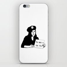 It's been a pleasure serving with you, son. iPhone & iPod Skin