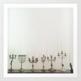 Candlesticks Art Print