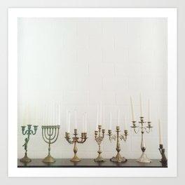 Candlesticks Art Print