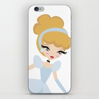 cinderella iPhone & iPod Skins featuring Cinderella by Paint Me Pink