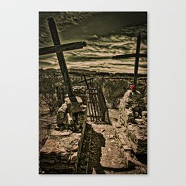 Crosses In Terlingua Canvas Print