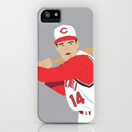 Reds - Pete Rose - 1965 (Vector Art) iPhone Case