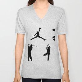 Sports silhouettes Unisex V-Neck