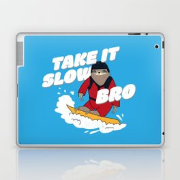 Take it Slow Bro - Funny Snowboarding Sloth Laptop & iPad Skin