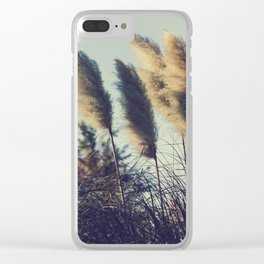 Reeds in the wind Clear iPhone Case