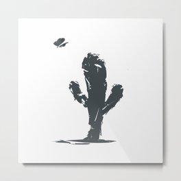 Waiting on a Friend- Desert Cactus Metal Print