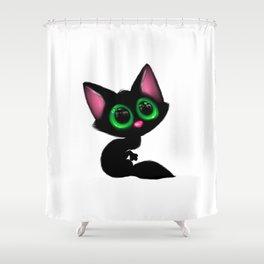 Cute Cartoon Cat Shower Curtain
