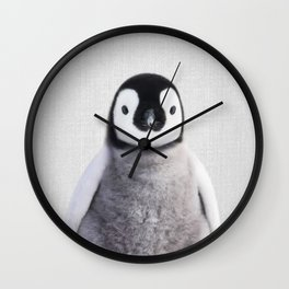 Baby Penguin - Colorful Wall Clock